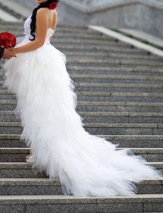 Короткие Свадебные Платья 2017 Фото И Цены Со Шлейфом