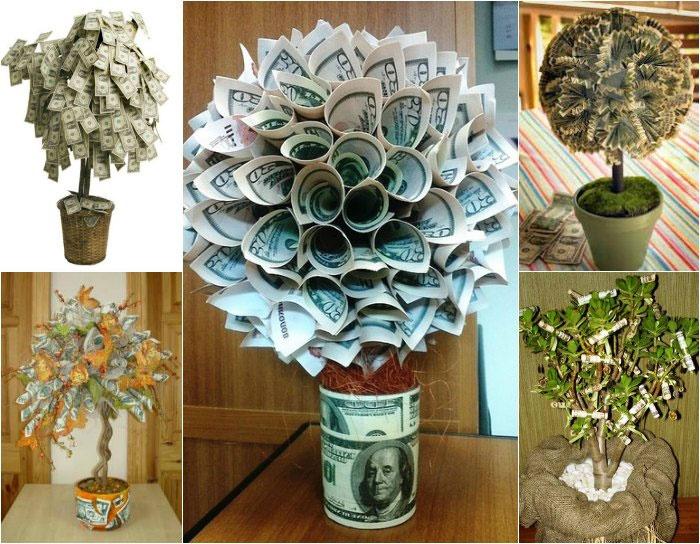 Как сделать дерево из денег своими руками фото 58