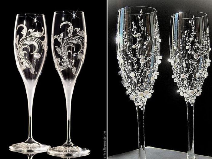 Красивые бокалы своими руками фото 843